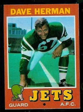 1971 Topps #124 - Dave Herman - nm