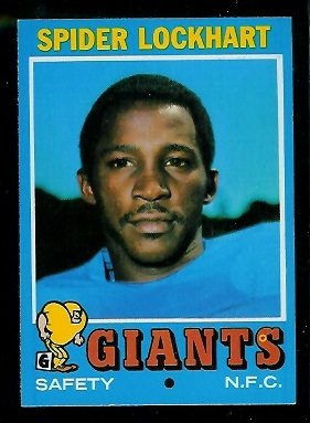 1971 Topps #128 - Spider Lockhart - nm