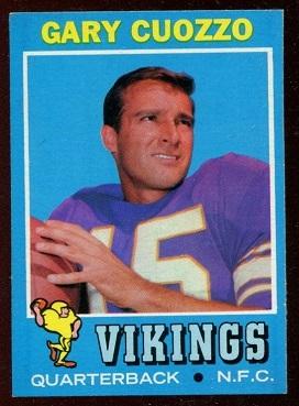 1971 Topps #18 - Gary Cuozzo - nm