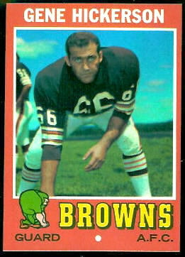 1971 Topps #36 - Gene Hickerson - nm