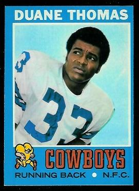 1971 Topps #65 - Duane Thomas - exmt