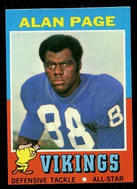 1971 Topps #71 - Alan Page - nm-mt oc
