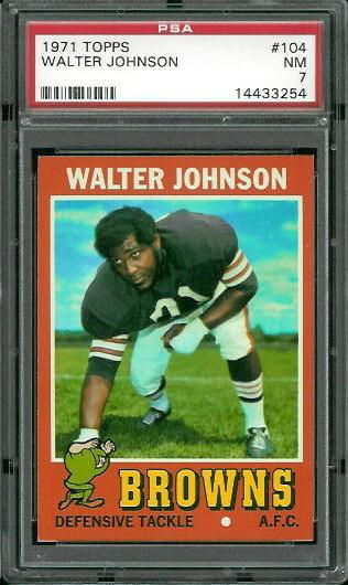 1971 Topps #104 - Walter Johnson - PSA 7
