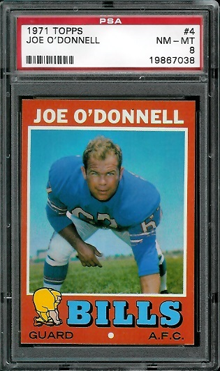 1971 Topps #4 - Joe O'Donnell - PSA 8