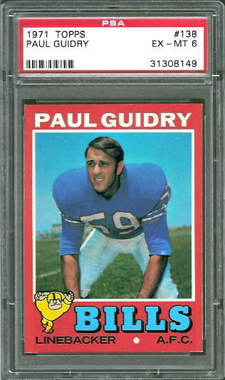1971 Topps #138 - Paul Guidry - PSA 6