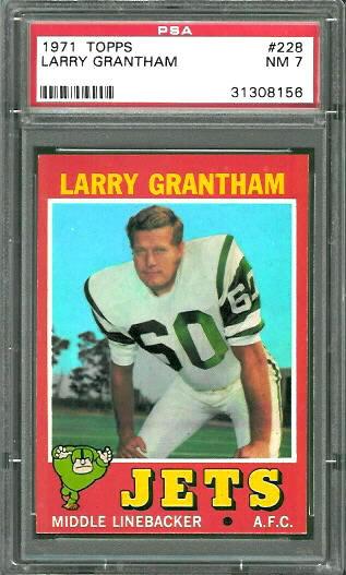 1971 Topps #228 - Larry Grantham - PSA 7