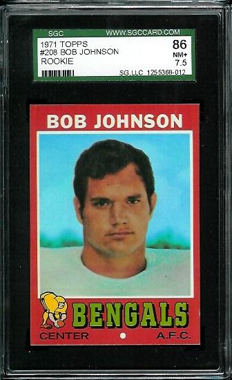1971 Topps #208 - Bob Johnson - SGC 86