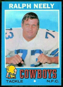 1971 Topps #89 - Ralph Neely - nm
