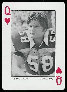 1972 Auburn Playing Cards #12H - Steve Taylor - mint