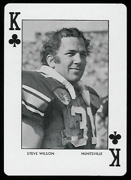 1972 Auburn Playing Cards #13C - Steve Wilson - mint