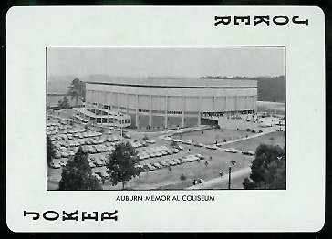 1972 Auburn Playing Cards #14B - Auburn Memorial Coliseum - mint