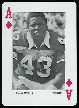 1972 Auburn Playing Cards #1D - James Owens - mint