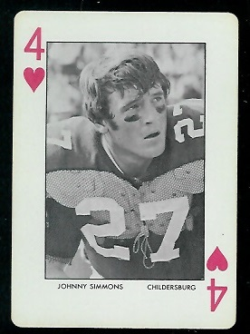 1972 Auburn Playing Cards #4H - Johnny Simmons - nm