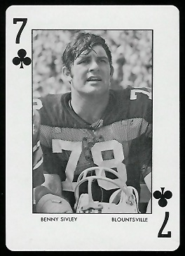 1972 Auburn Playing Cards #7C - Benny Sivley - mint
