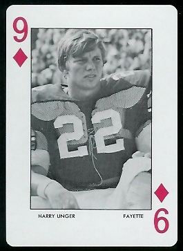 1972 Auburn Playing Cards #9D - Harry Unger - mint