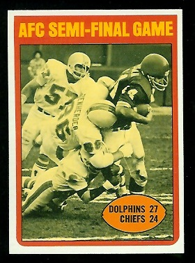 1972 Topps #133 - AFC Semi-Final Game - nm