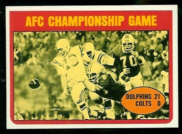 1972 Topps #137 - AFC Championship Game - nm-mt