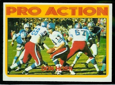 1972 Topps #256 - Don Horn Pro Action - nm