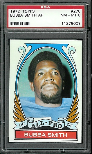 1972 Topps #278 - Bubba Smith All-Pro - PSA 8