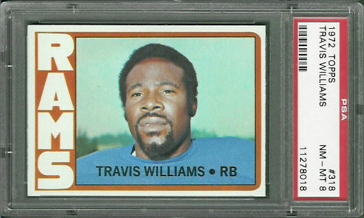 1972 Topps #318 - Travis Williams - PSA 8