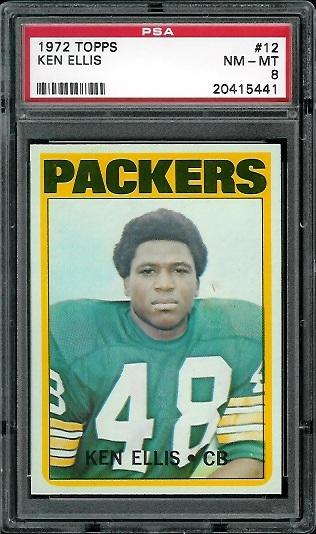 1972 Topps #12 - Ken Ellis - PSA 8