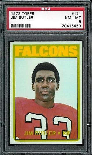 1972 Topps #171 - Jim Butler - PSA 8