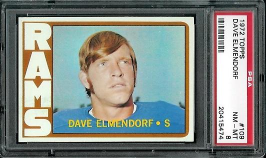 1972 Topps #109 - Dave Elmendorf - PSA 8