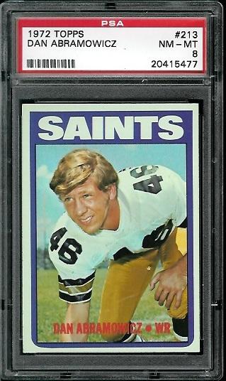 1972 Topps #213 - Dan Abramowicz - PSA 8
