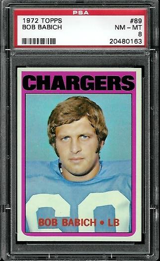 1972 Topps #89 - Bob Babich - PSA 8