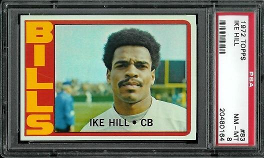 1972 Topps #83 - Ike Hill - PSA 8