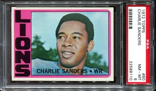 1972 Topps #60 - Charlie Sanders - PSA 8