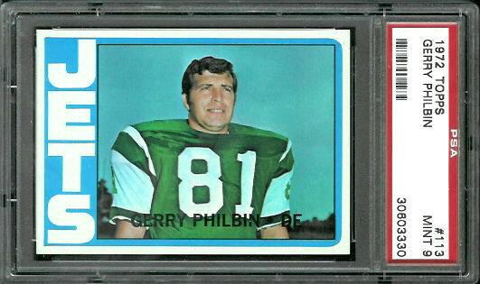 1972 Topps #113 - Gerry Philbin - PSA 9