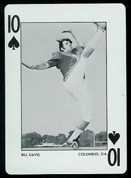 1973 Alabama Playing Cards #10S - Bill Davis - nm+
