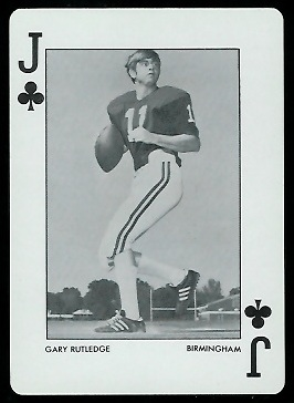 1973 Alabama Playing Cards #11C - Gary Rutledge - nm+