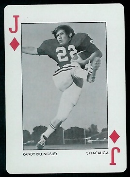 1973 Alabama Playing Cards #11D - Randy Billingsley - nm+