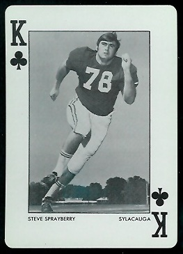 1973 Alabama Playing Cards #13C - Steve Sprayberry - nm+