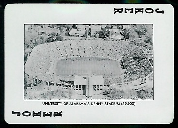 1973 Alabama Playing Cards #14B - Denny Stadium - ex+