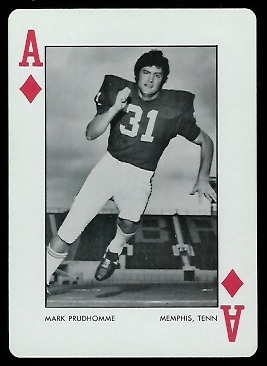 1973 Alabama Playing Cards #1D - Mark Prudhomme - nm