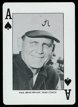 1973 Alabama Playing Cards #1S - Bear Bryant - nm+