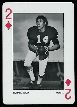 1973 Alabama Playing Cards #2D - Richard Todd - nm+