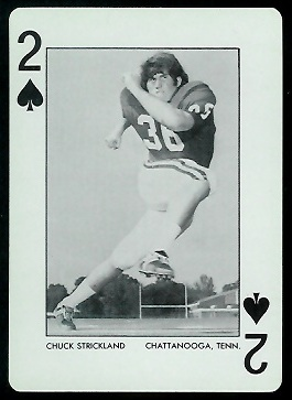 1973 Alabama Playing Cards #2S - Chuck Strickland - nm