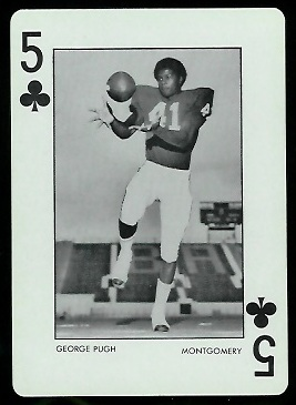 1973 Alabama Playing Cards #5C - George Pugh - nm+