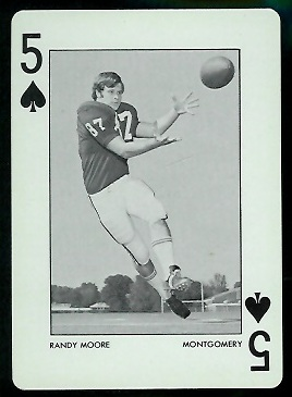 1973 Alabama Playing Cards #5S - Randy Moore - nm
