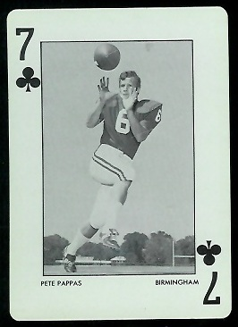 1973 Alabama Playing Cards #7C - Pete Pappas - nm+