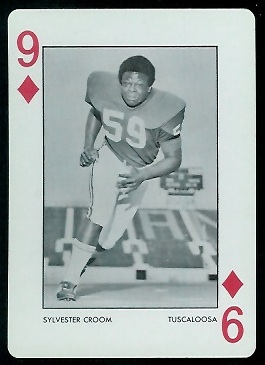 1973 Alabama Playing Cards #9D - Sylvester Croom - nm+