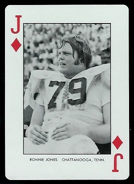 1973 Auburn Playing Cards #11D - Ronnie Jones - mint