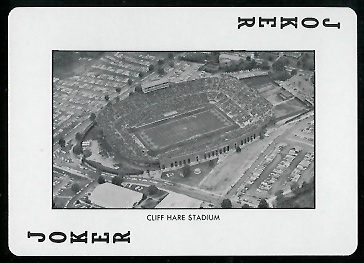 1973 Auburn Playing Cards #14A - Cliff Hare Stadium - mint
