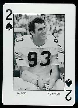 1973 Auburn Playing Cards #2S - Jim Pitts - mint