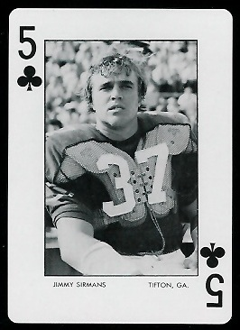 1973 Auburn Playing Cards #5C - Jimmy Sirmans - exmt