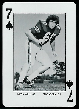 1973 Auburn Playing Cards #7S - David Williams - mint